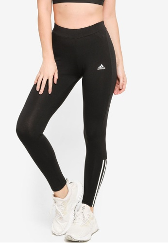 ADIDAS black essentials fitted 3-stripes 7/8 tights A0884AAAC8E849GS_1