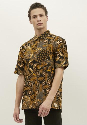Woffi yellow Luanda Cotton Print Batik Shirt 1F802AA338AE7CGS_1
