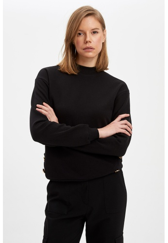 DeFacto black Woman Knitted Sweat Shirt D9CB8AAD03E3C7GS_1