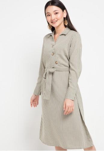 SIMPLICITY multi Long Sleeve Buttoned Mini Dress 3049EAA2524279GS_1