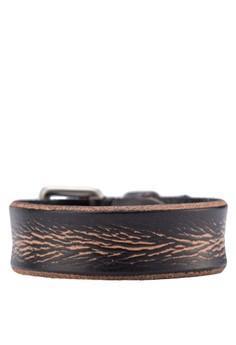 Men's Leather Wristband With Buckle
