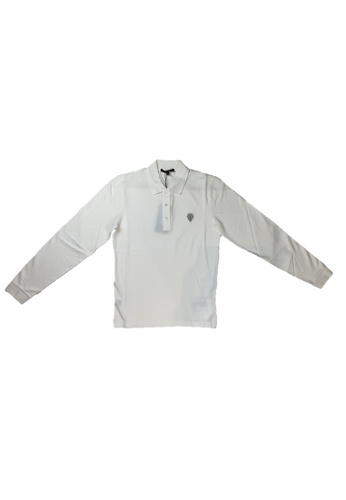 Gucci white PRE-LOVED GUCCI COTTON LONG SLEEVE POLO WITH ANCHOR CREST 0B46DAA38522C3GS_1