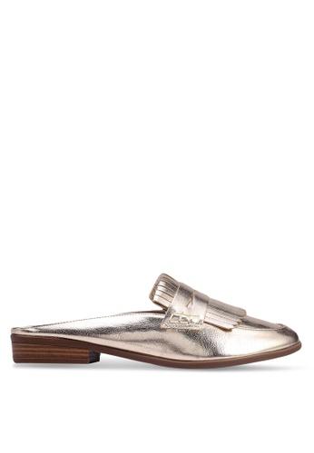 Anacapri 金色 金屬感流蘇穆勒鞋 09298SHF45EAF5GS_1