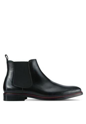 Dune London black Col Rand Chelsea Boots DU588SH0SD8XMY_1