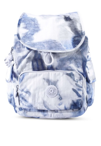 Kipling white and blue City Pack S Tie Dye Blue Backpack EC9B9ACFB08DCCGS_1