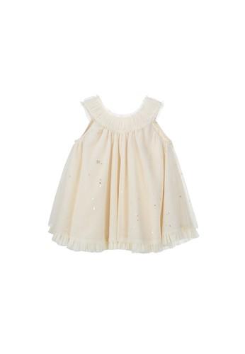 Luna Luna yellow and gold and beige Estelle Baby Dress 5D0C2KA54DCA1BGS_1