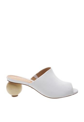 SCHUTZ white White Leather Wood Heel Mule - TIMON [WHITE] A684FSHB3B14B4GS_1