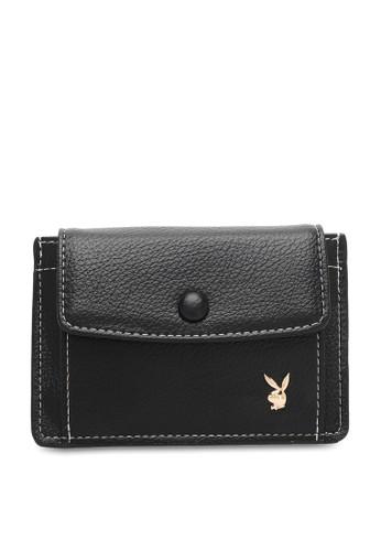 PLAYBOY BUNNY black Ladies Coin & Card Holder F524EAC89BBDD5GS_1