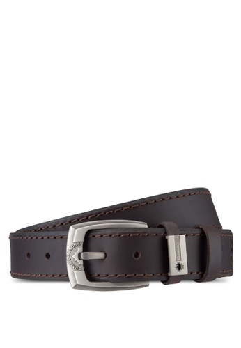 Lumberjacks brown Lumberjacks 40mm Belt LU545AC32MRRMY_1