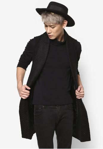 長版毛氈馬甲式披肩大衣, 服飾, 西zalora 衣服評價裝外套及背心