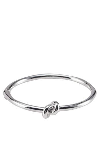 Wanderlust + Co silver Knot Silver Bangle WA282AC63TNKMY_1