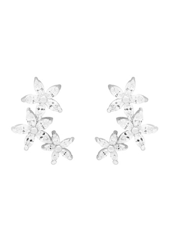 SKEDA silver Viola Floral Earrings 48ABAACA467717GS_1