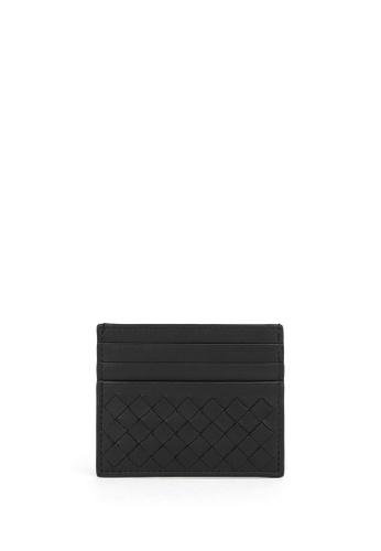 BOTTEGA VENETA black Leather Card Holder A9B50AC77D0835GS_1