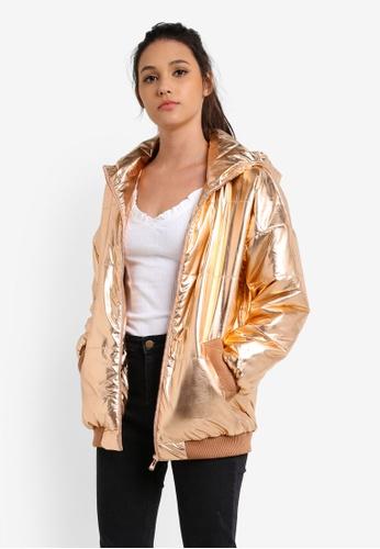Something Borrowed gold Puffa Jacket BA1E1AA693B08DGS_1