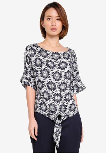 Dorothy Perkins black Mono Tile Tie Tee D5C2BAA658AE6EGS_1