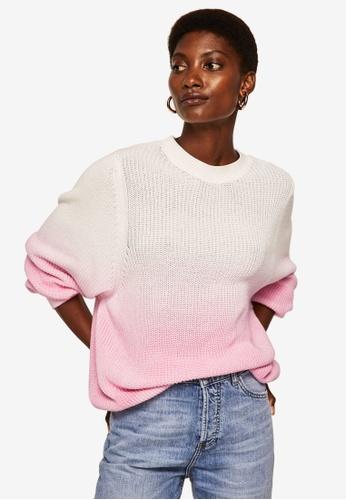 Mango pink Ombré Cotton Sweater 82617AA2008AB9GS_1
