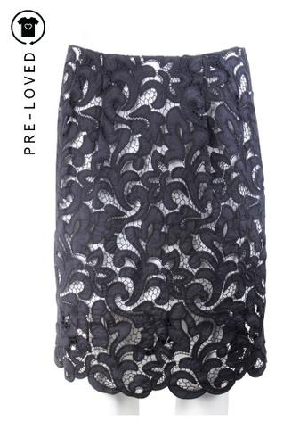 Dries Van Noten black Pre-Loved dries van noten Lace Skirt E53A5AAEE217B7GS_1