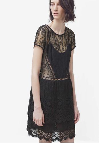 透膚層次蕾絲洋裝, 服飾zalora 包包 ptt, 服飾