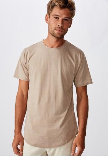Cotton On brown Longline Curve Hem Burnout 57D2BAAF6DF1ADGS_1