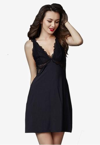 絲綢蕾絲連esprit手錶專櫃身睡裙, 服飾, 睡衣, 睡裙和連身內衣