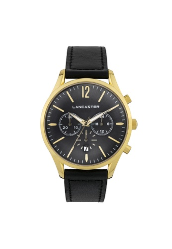 Lancaster Paris black and grey and gold Heritage Chronograph LA452AC0GJD2SG_1