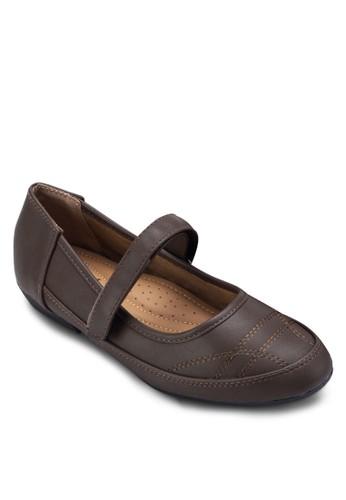 Maesprit 童裝ry Jane 圓頭仿皮平底鞋, 女鞋, 芭蕾平底鞋