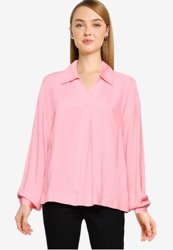 Vero Moda pink Felicity Long Sleeve Top FB3FAAAF2CC29DGS_1