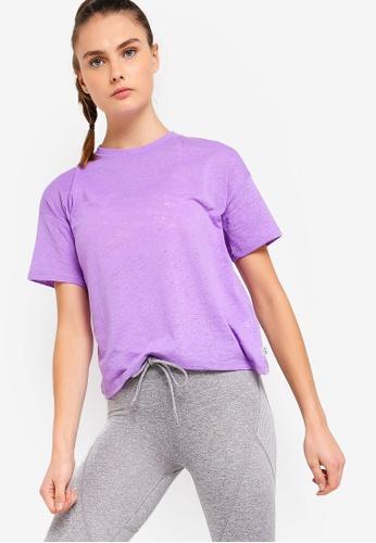 Cotton On Body purple Boxy Burnout T-Shirt D76E0AA65CD9E2GS_1