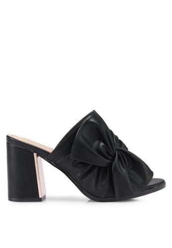 Carlton London black Bow Mules 7CF1FSH2674E47GS_1