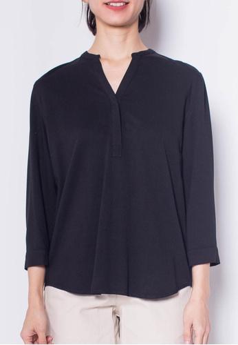 SUB black Women Slot Collar Blouse 02439AA9CBFA60GS_1