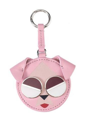 kate spade new york pink Mod Dog Keychain (cv) 1CDCCAC52EEB30GS_1