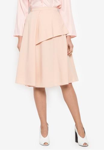 TM beige Coco Midi Skirt 83112AAD243D5CGS_1