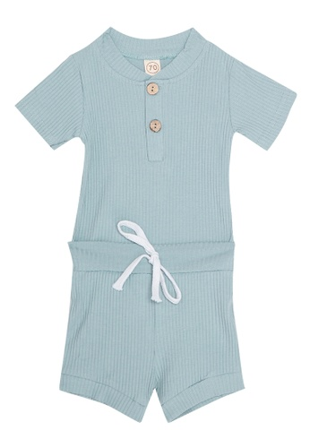 RAISING LITTLE blue Hayden Ribbed Overalls BEAAAKADF61D98GS_1
