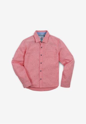 Gingersnaps red Boys Dot Print Long Sleeves Shirt 874A0KA84D5F1AGS_1