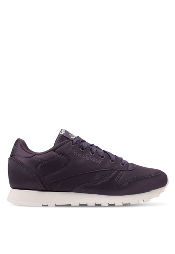 Reebok purple CL LTHR Satin Shoes 11BEESH12C8299GS_1