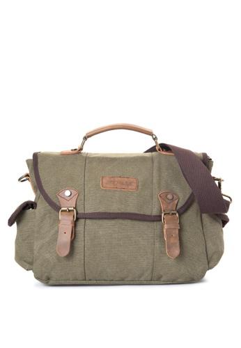 Chase Fashion green Atom Canvas Messenger Bag CH547AC61UXEPH_1