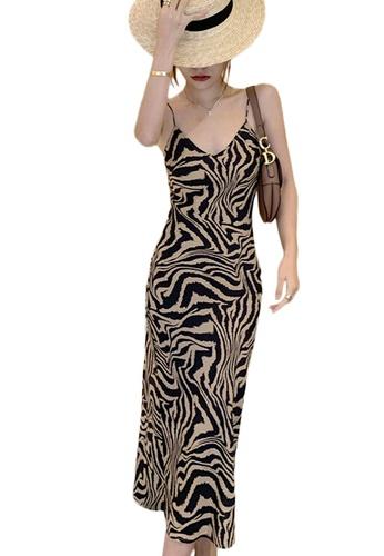 Sunnydaysweety multi Vintage Tiger Print Slip One Piece Dress A21031931 159CFAA2ABACE9GS_1