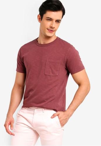 J.Crew red Classic Garment Dye Pocket Crew Tee 28698AA8919E1BGS_1