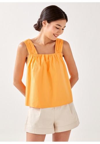Love, Bonito yellow Kael Drawstring Top 051B2AA24C9F95GS_1