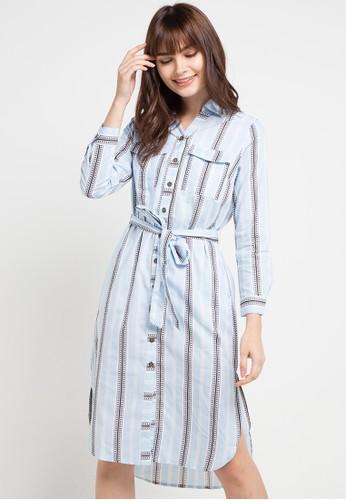 Le'Rosetz blue and multi Tribal Long Dress 44272AAB1830FEGS_1