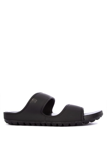 Fitflop black Lido Double Slide Sandals CA56ASH6F0D6C4GS_1