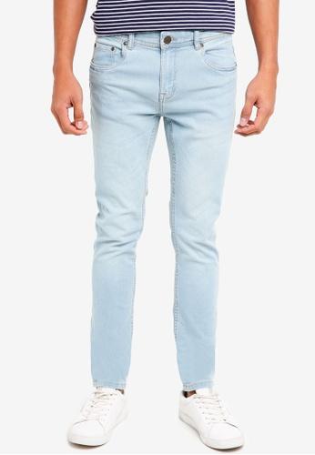 OVS green Slim Fit Ripped Jeans 8BD9DAAA673CF9GS_1