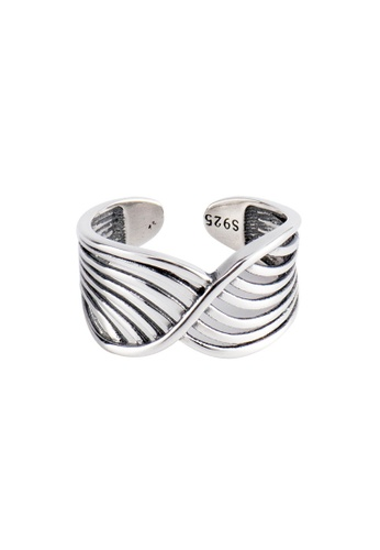 OrBeing white Premium S925 Sliver Mesh Ring 55591AC4CFAAAAGS_1