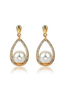 Teardrop Pearl Earrings by ZUMQA