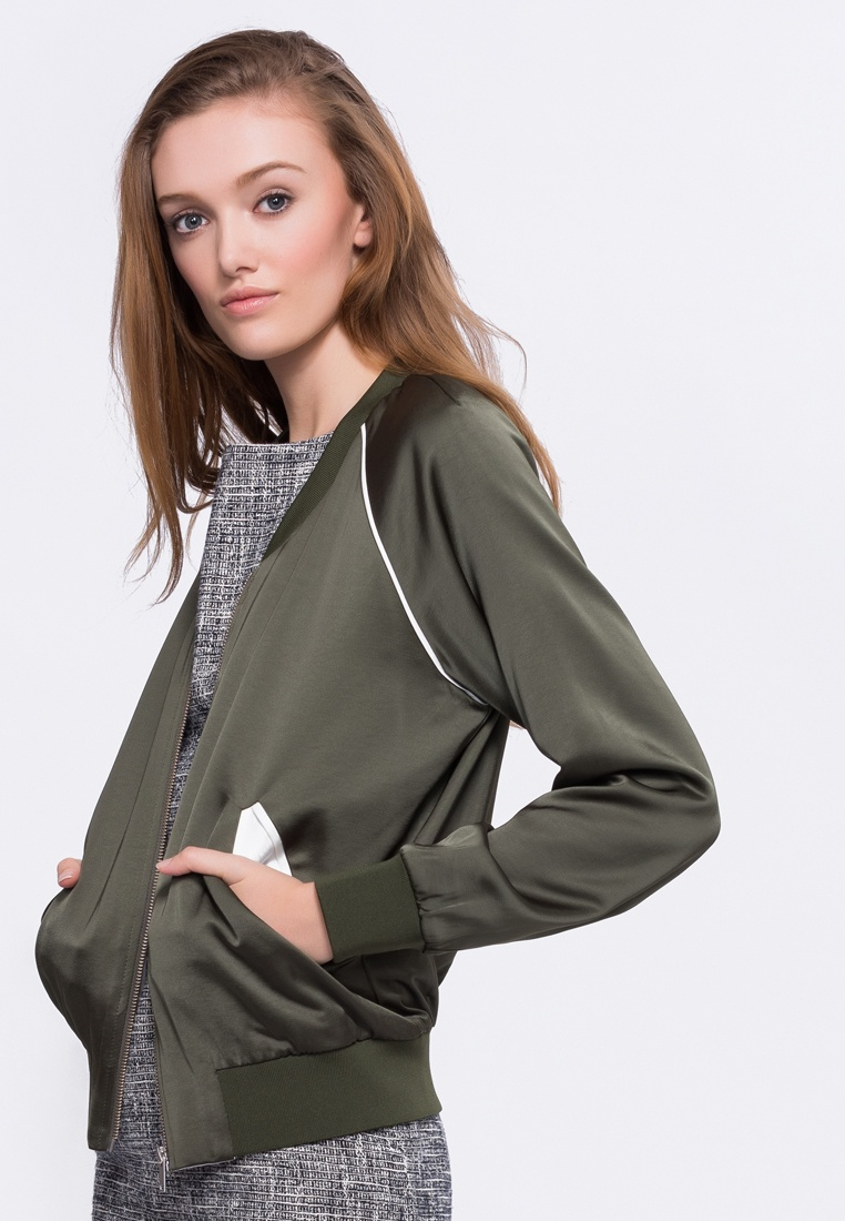 Chloe Green Sea Low Style Bomber Alpha Neck Jacket Yxw5pq0p
