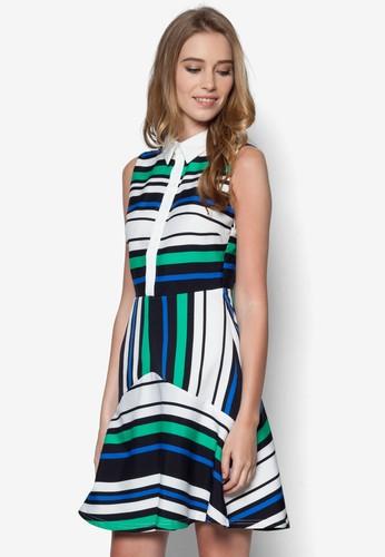 Venus 條紋無袖襯衫洋裝,esprit 尺寸 服飾, 洋裝