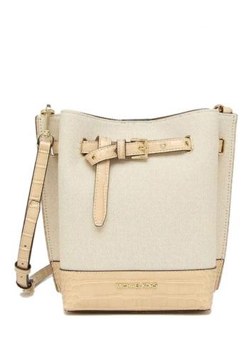 Michael Kors beige MICHAEL Michael Kors Emilia Small Bucket Bag Messenger AADEDAC0AE622DGS_1