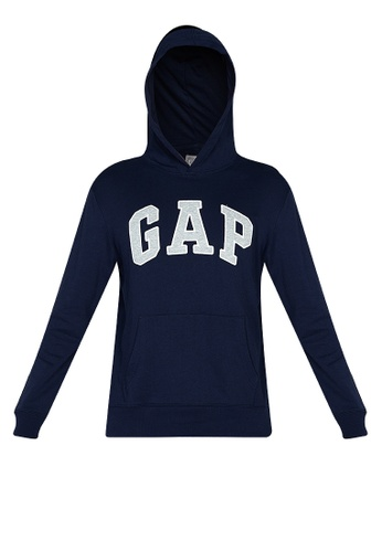 GAP navy Arch Logo Pullover Hoodie AF7A6AA230FC5BGS_1