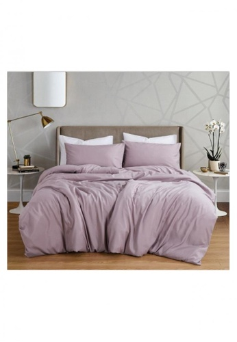 Bedding Day Bedding Day - Soft Microfiber Solid 700TC Fitted Sheet Set - Lavender 15AC0HLC6686D3GS_1