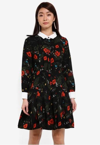 ZALORA black Corporate Pleated Dress 17BC6AA9980BC0GS_1